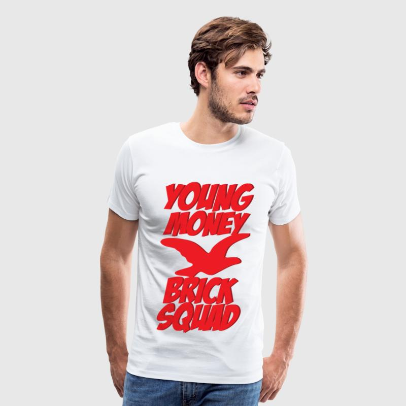 young money brick squad T-Shirts - Men's Premium T-Shirt