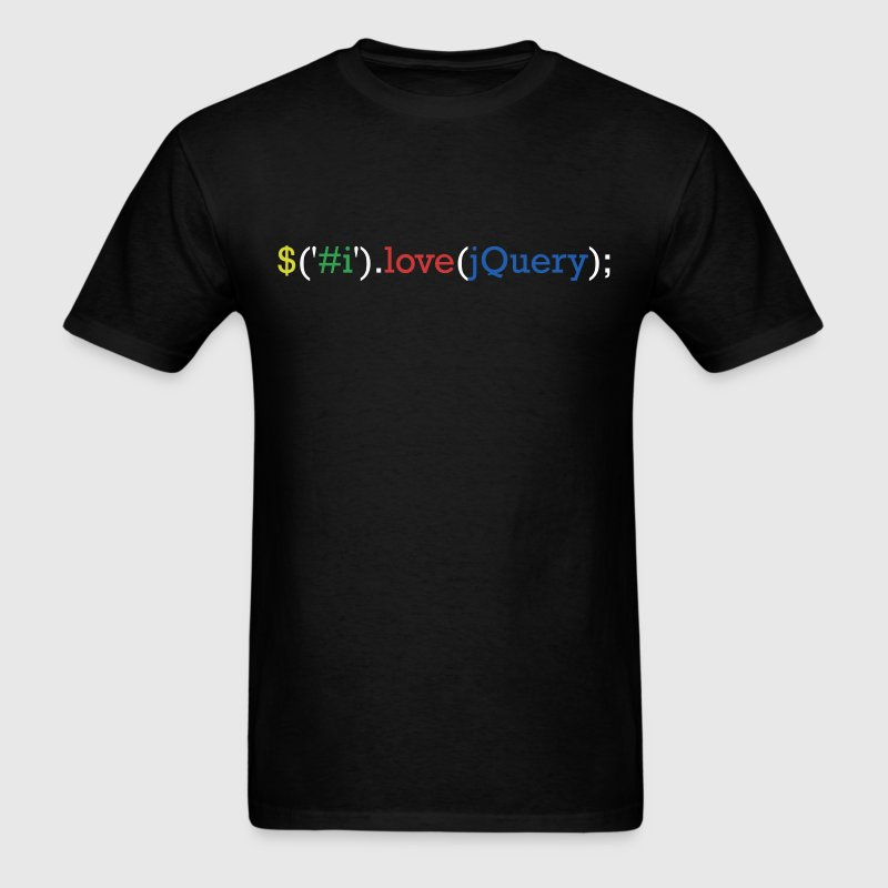 I love jQuery T-Shirts - Men's T-Shirt