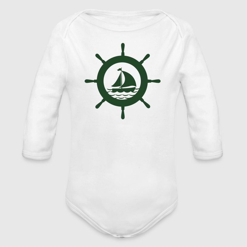 boat steering wheel Baby & Toddler Shirts - Long Sleeve Baby Bodysuit
