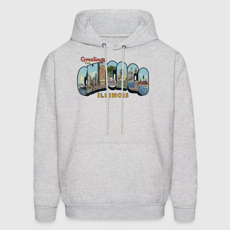 Greetings Chicago Illinois Apparel Hoodies - Men's Hoodie