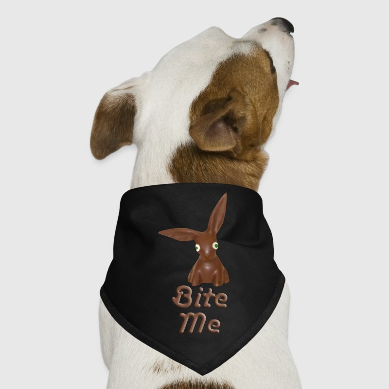 Bite Me Easter Chocolate Bunny Dog Bandana - Dog Bandana