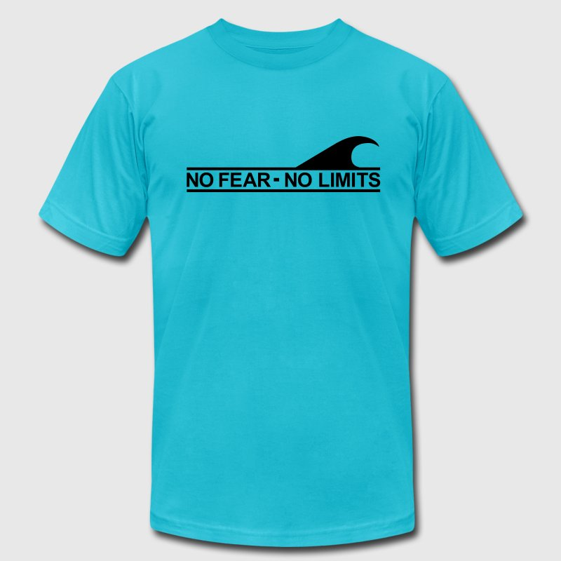 Surf - No fear no limits T-Shirts - Men's Fine Jersey T-Shirt