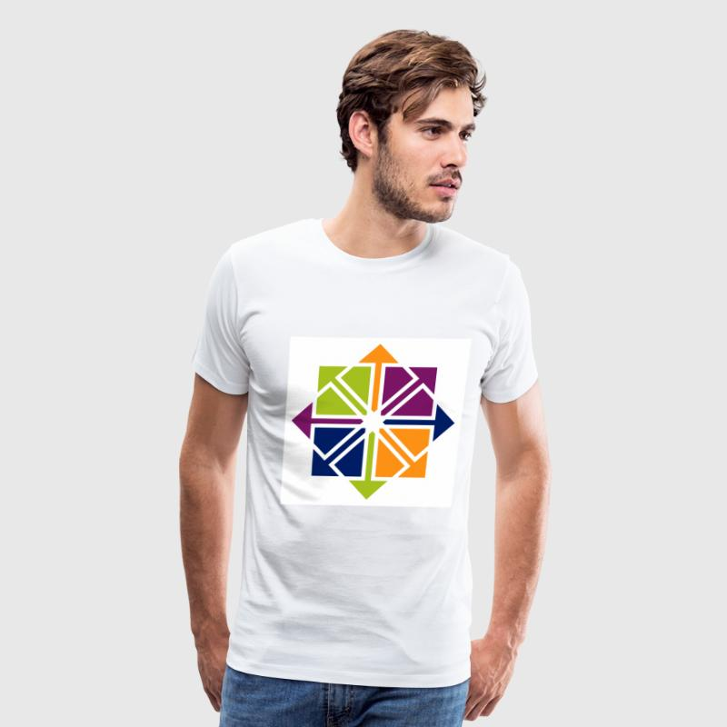 White CentOS T-Shirts (Short sleeve) - Men's Premium T-Shirt