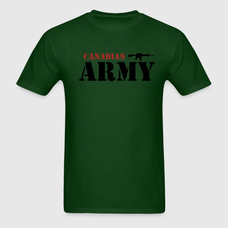 Forest green Canadian Army Men - Men's T-Shirt