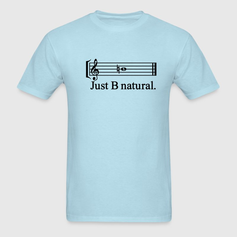 Sky blue justbnatural_outline T-Shirts - Men's T-Shirt