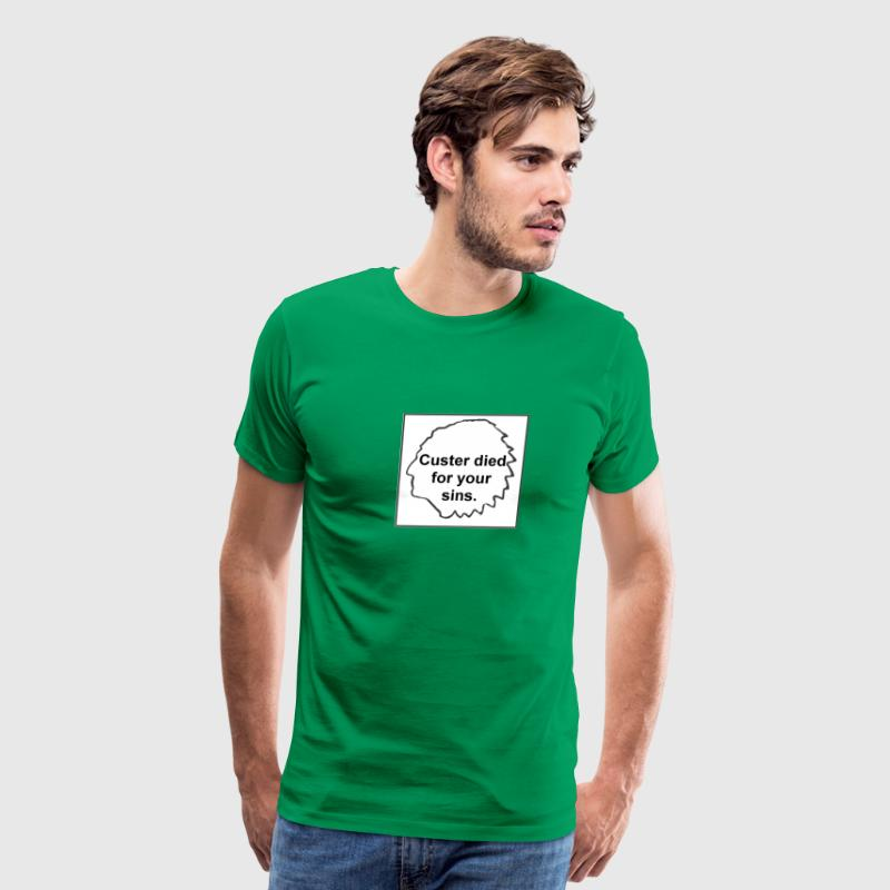 Bright green Custer Died For Your Sins Men - Men's Premium T-Shirt