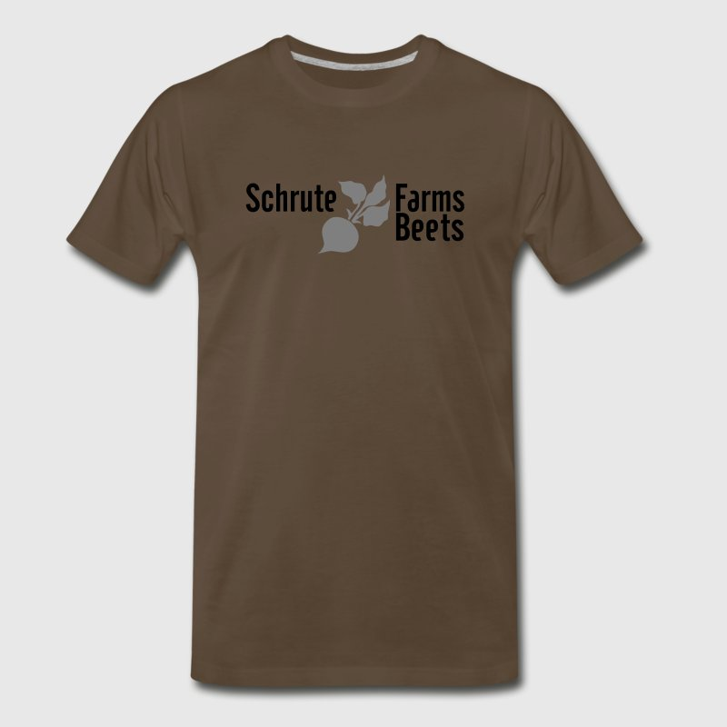 Chocolate Dwight Schrute Farms Beets T-Shirts - Men's Premium T-Shirt