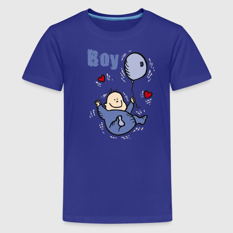 Royal blue I'm a boy Kids & Baby - Kids' Premium T-Shirt