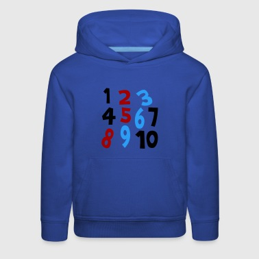 Royal blue Numbers 1 - 10 Without Background Kids & Baby - Kids' Premium Hoodie