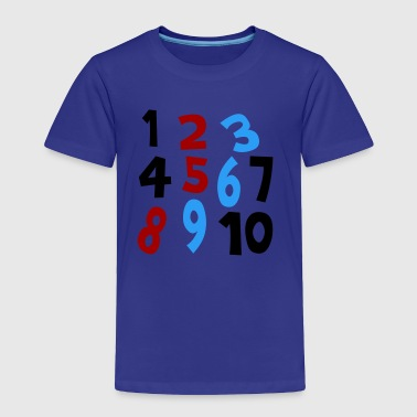 Royal blue Numbers 1 - 10 Without Background Kids & Baby - Toddler Premium T-Shirt