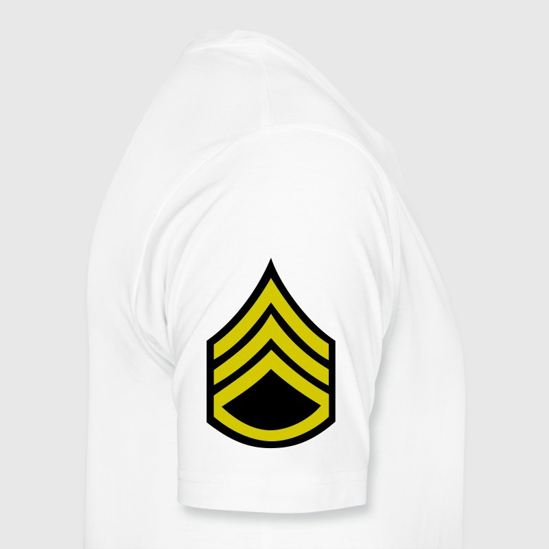army rank staff sergeant badge patch - Men's Premium T-Shirt