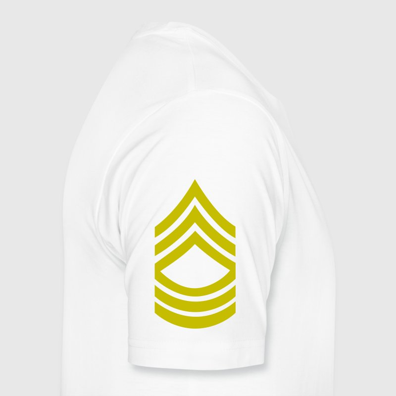army master sergeant rank badge patch - Men's Premium T-Shirt