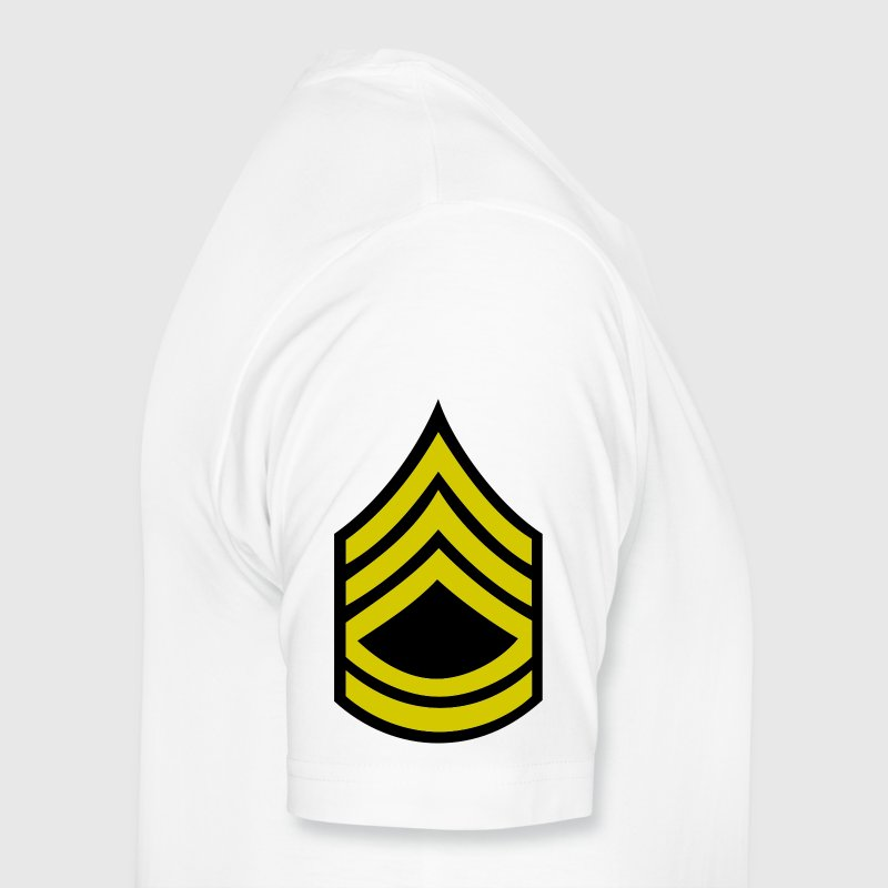 army rank sergeant first class badge patch - Men's Premium T-Shirt