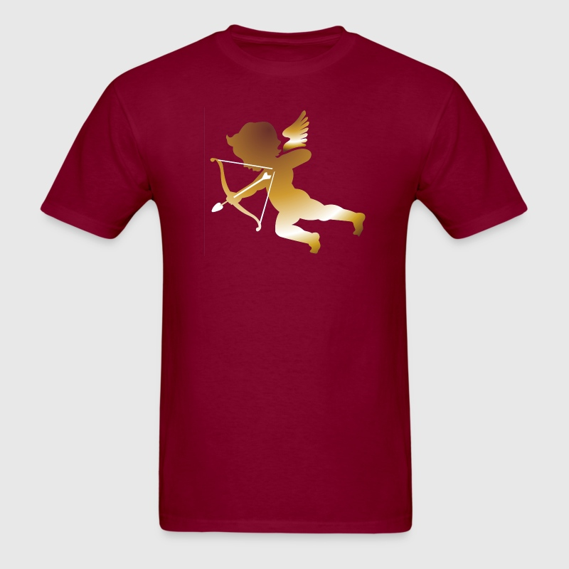 Burgundy Cupid 01 - (dark gold) T-Shirts (Short sleeve) - Men's T-Shirt