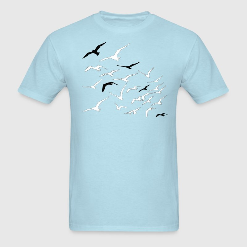 Sky blue Birds in flight T-Shirts - Men's T-Shirt