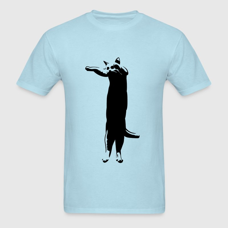 Sky blue longcat T-Shirts - Men's T-Shirt