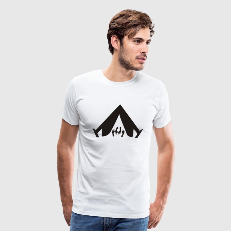 White Camping Sex T-Shirts - Men's Premium T-Shirt