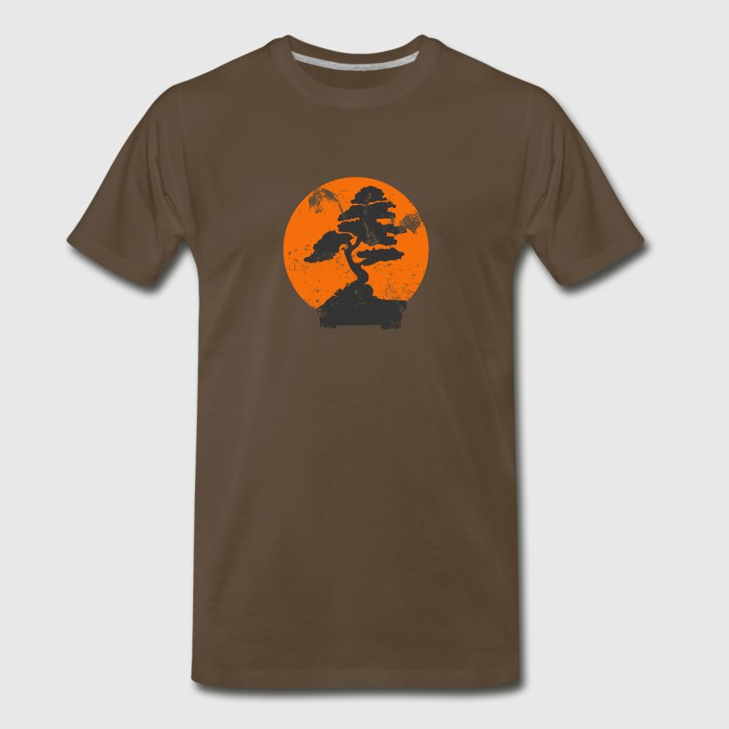 Chocolate Miyagi Banzai Tree Karate Kid Patch T-Shirts - Men's Premium T-Shirt