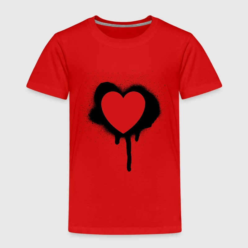 Red graffiti valentine's day heart Toddler Shirts - Toddler Premium T-Shirt