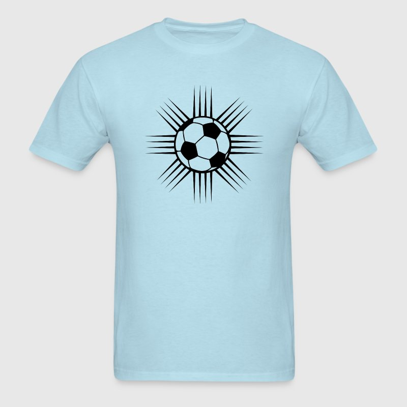 sky blue cool soccer ball design or team logo t shirts mens t - Soccer T Shirt Design Ideas