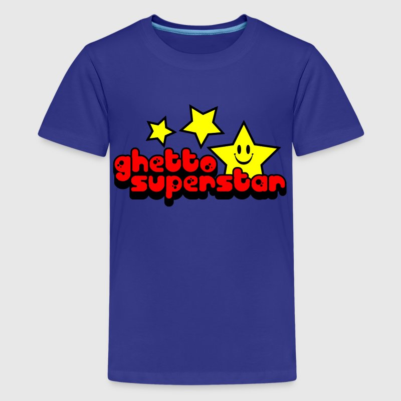 Royal blue Ghetto Superstar Kids Shirts - Kids' Premium T-Shirt