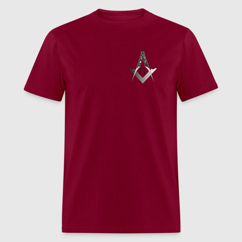 Masonic square and compass t shirt spreadshirt for Mason s men s shirts
