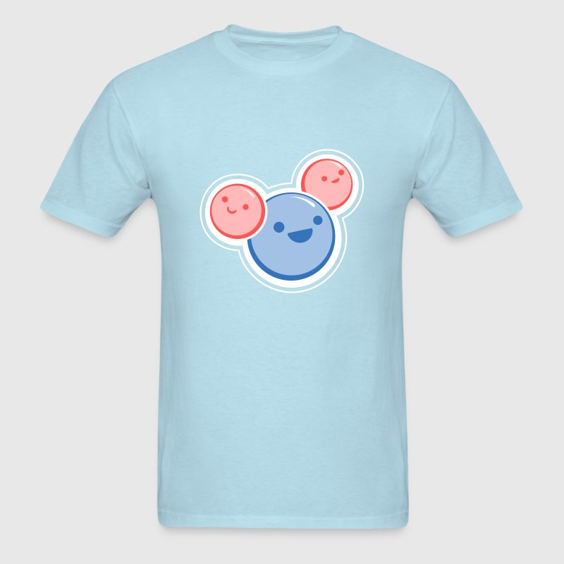 Sky blue Water Molecule T-Shirts - Men's T-Shirt