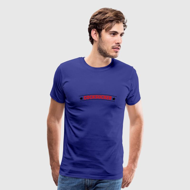 Royal blue blowjob porn sex girl T-Shirts - Men's Premium T-Shirt