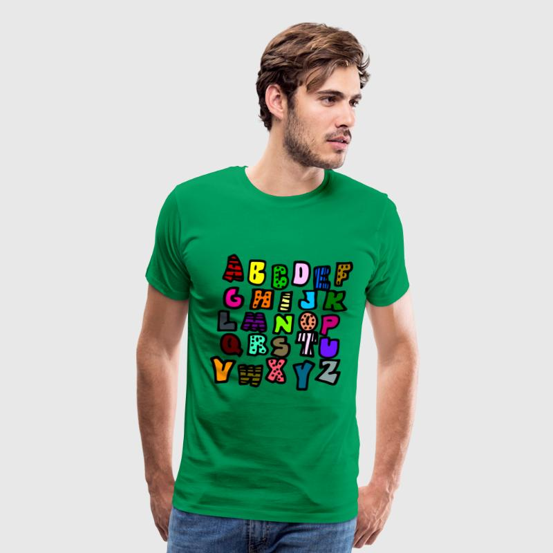 Bright green Graffiti Alphabet Multi-Color--DIGITAL DIRECT ONLY T-Shirts - Men's Premium T-Shirt