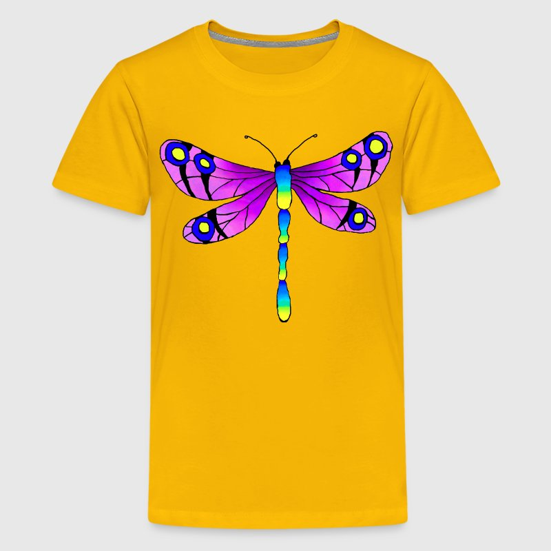 Yellow dragonfly Kids' Shirts - Kids' Premium T-Shirt