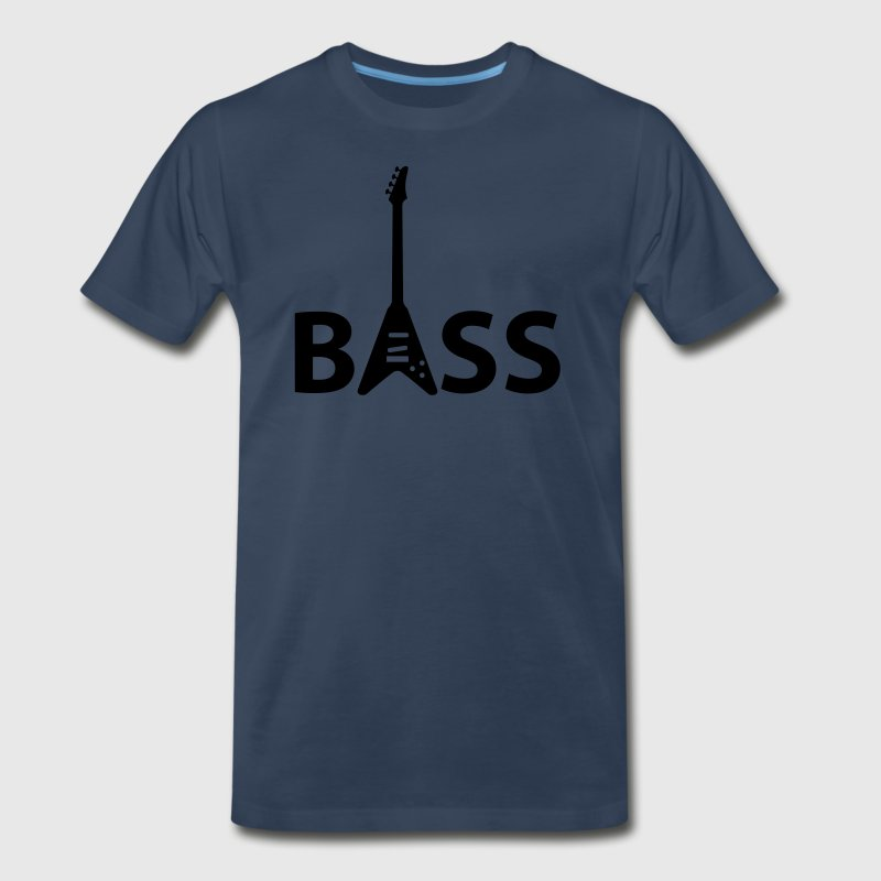 Navy bass T-Shirts - Men's Premium T-Shirt