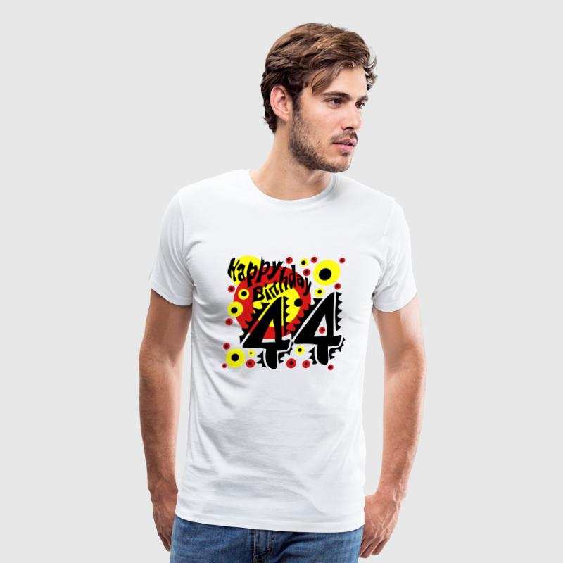 44 Years Happy Birthday - Men's Premium T-Shirt