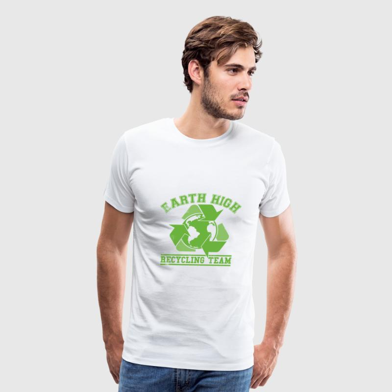 White Earth Recycling Team Faded T-Shirts - Men's Premium T-Shirt