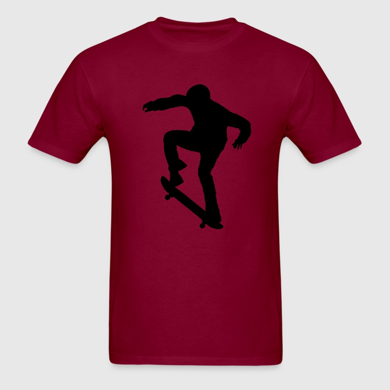 Burgundy Ollie Skater - Skateboarding - Skating T-Shirts - Men's T-Shirt