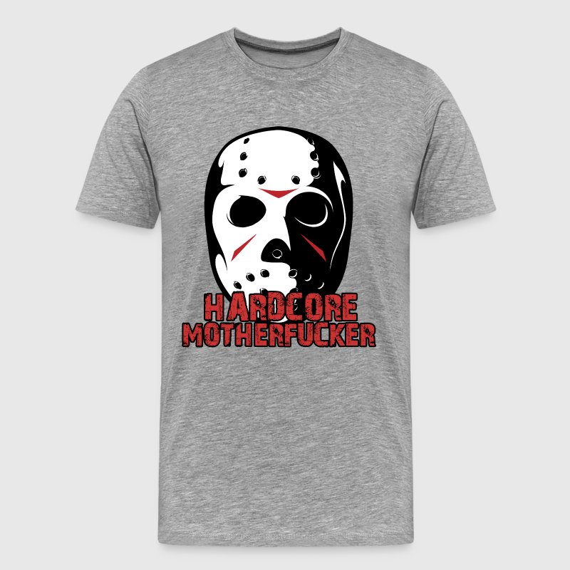 Heather grey Hardcore Mother Fucker T-Shirts - Men's Premium T-Shirt
