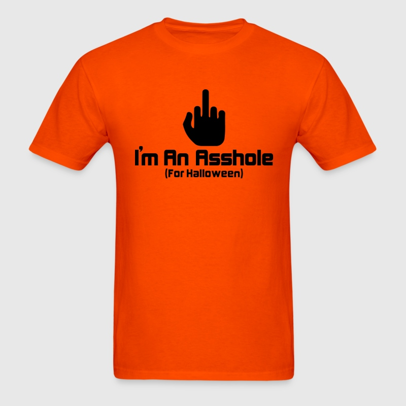 Orange Halloween Asshole T-Shirts - Men's T-Shirt
