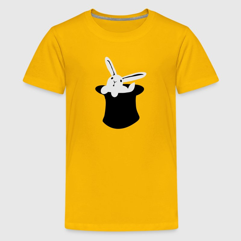 Yellow rabbit in hat MAGIC!!! Kids' Shirts - Kids' Premium T-Shirt