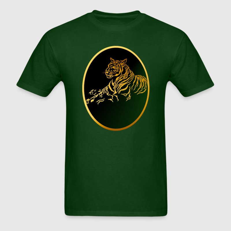 Framed Gold Tiger - Men's T-Shirt