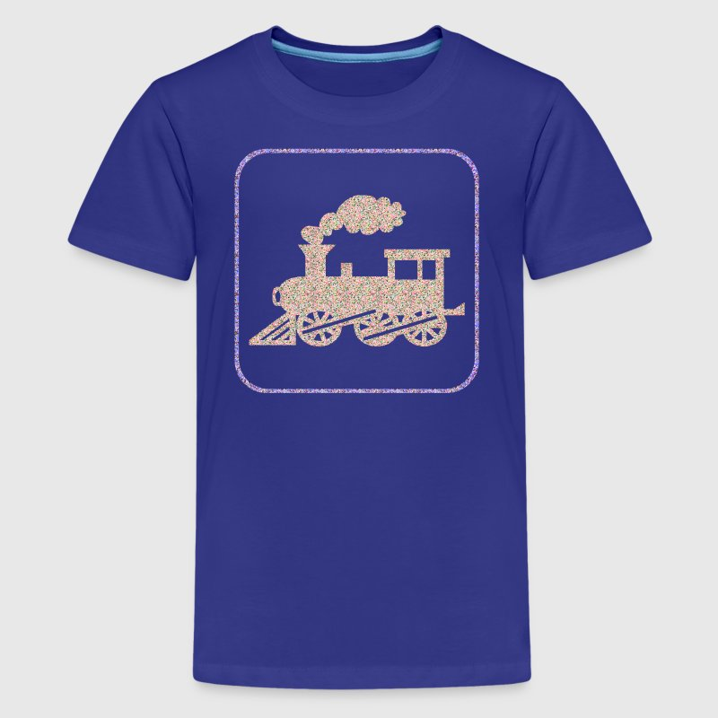 Royal blue A CHOO CHOO TRAIN Kids' Shirts - Kids' Premium T-Shirt