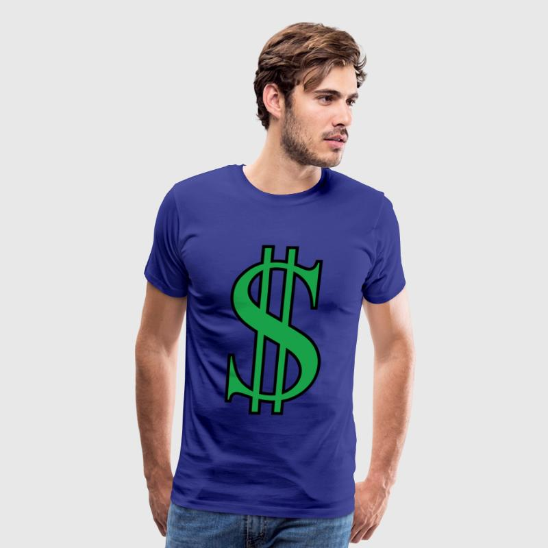 green dollar sign - Men's Premium T-Shirt