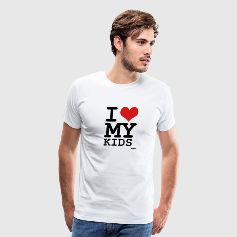 White i love my kids by wam T-Shirts - Men's Premium T-Shirt