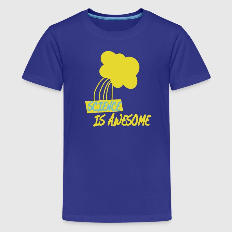 Turquoise Science is Awesome Kids' Shirts - Kids' Premium T-Shirt