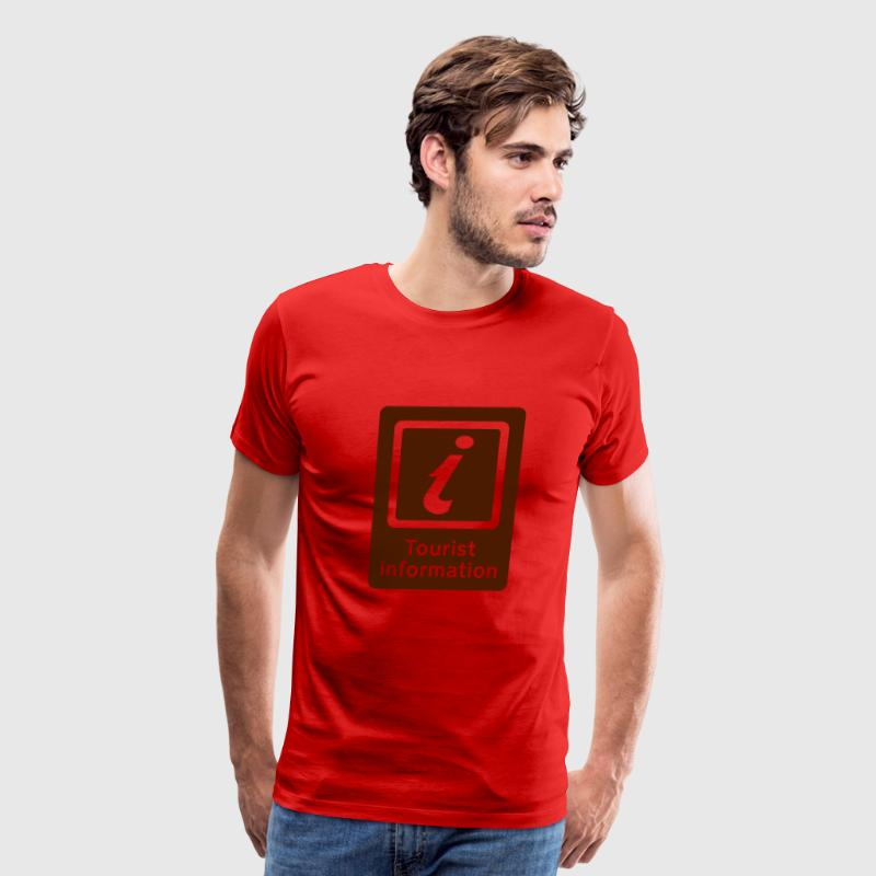 Red Tourism - Tourist Information T-Shirts - Men's Premium T-Shirt