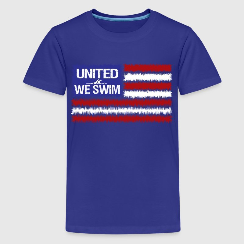 Turquoise united_we_swim Kids' Shirts - Kids' Premium T-Shirt