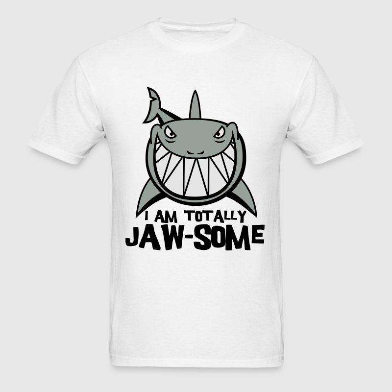 Turquoise Totally Jawsome Shark Kids' Shirts - Men's T-Shirt