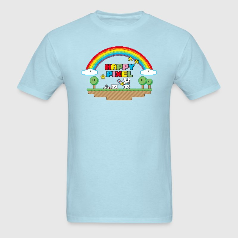 Sky blue Happy Pixel (R-rated) T-Shirts - Men's T-Shirt
