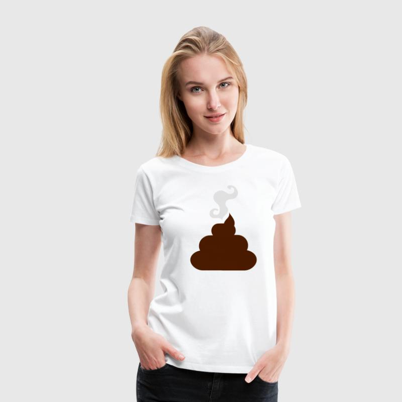 White turd poo steaming pile  of crap 2 Plus Size - Women's Premium T-Shirt