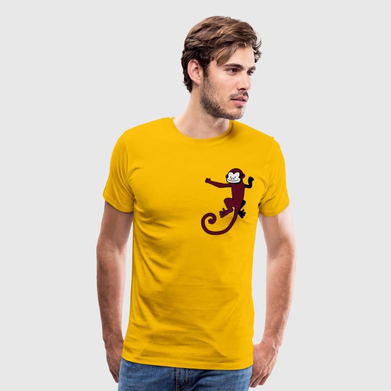 Gold monkey on the back T-Shirts - Men's Premium T-Shirt