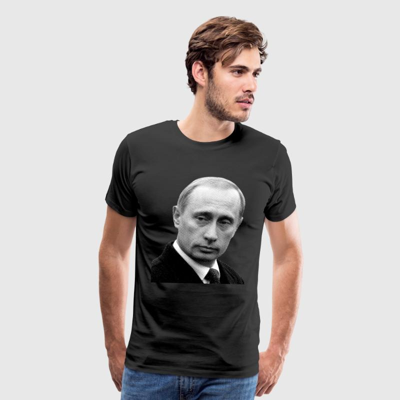 Vladimir Putin (Newspaper Print) - Men's Premium T-Shirt