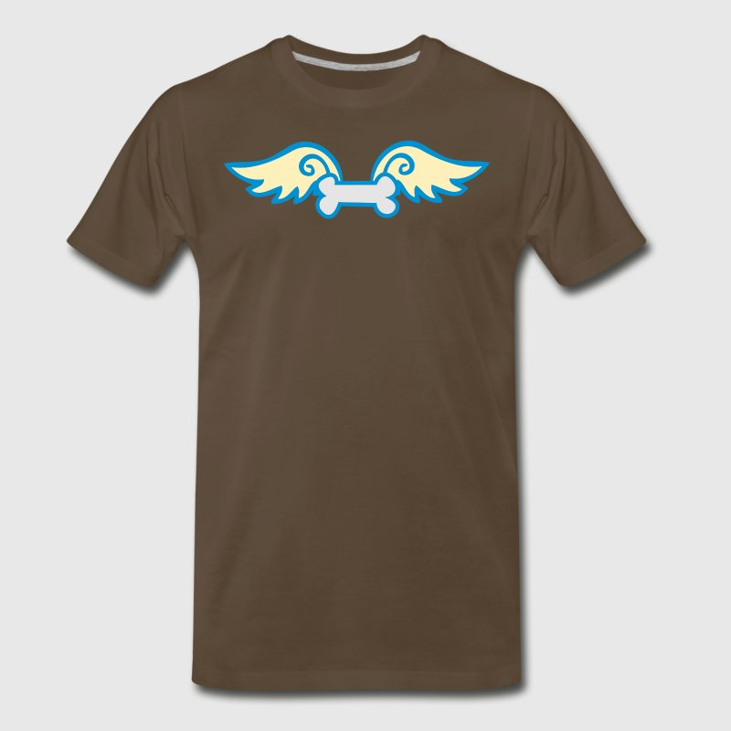 Brown a dog bone with wings T-Shirts - Men's Premium T-Shirt